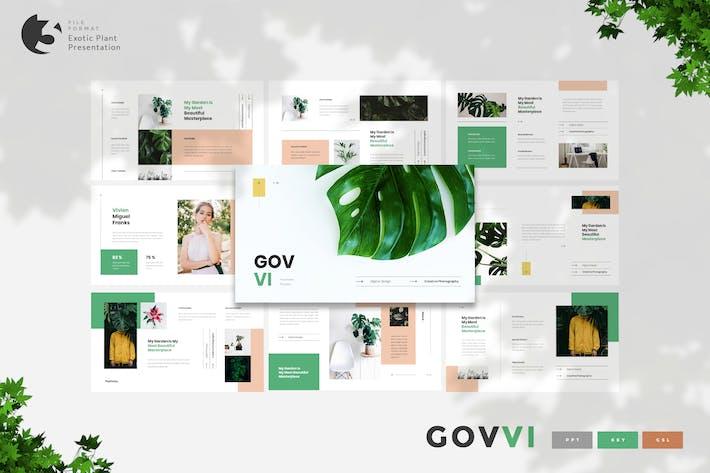 Thumbnail for Govvi- Экзотический Шаблон презентации растений