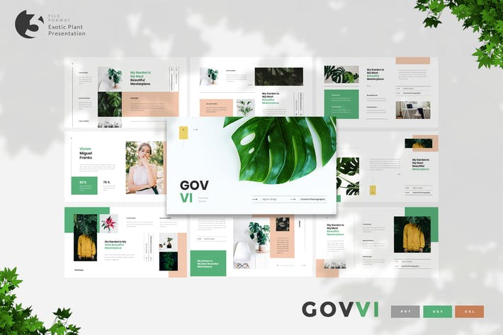 Thumbnail for Govvi- Exotic Plant Presentation Template