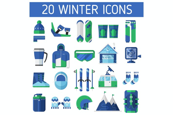 Thumbnail for Winter Ski Resort Icons