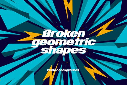 Broken Geometric Shapes Backgrounds