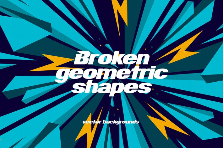 Thumbnail for Broken Geometric Shapes Backgrounds