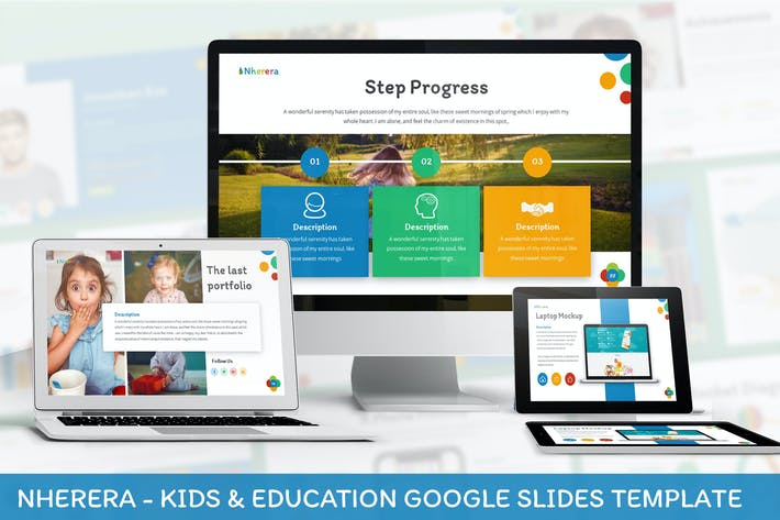 Thumbnail for Nherera - Kids & Education Google Slides Template