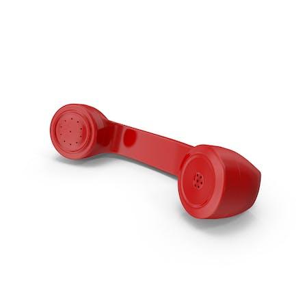 Teléfono rotativo rojo