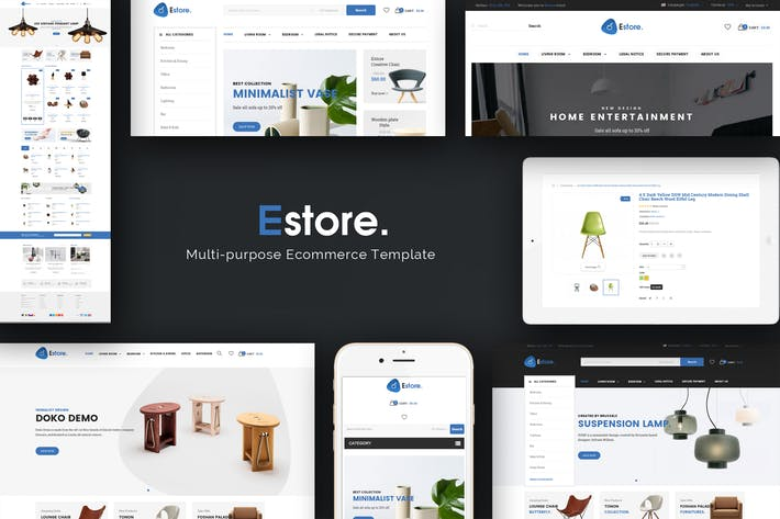 Thumbnail for Estore - Отзывчивый Magento Тема