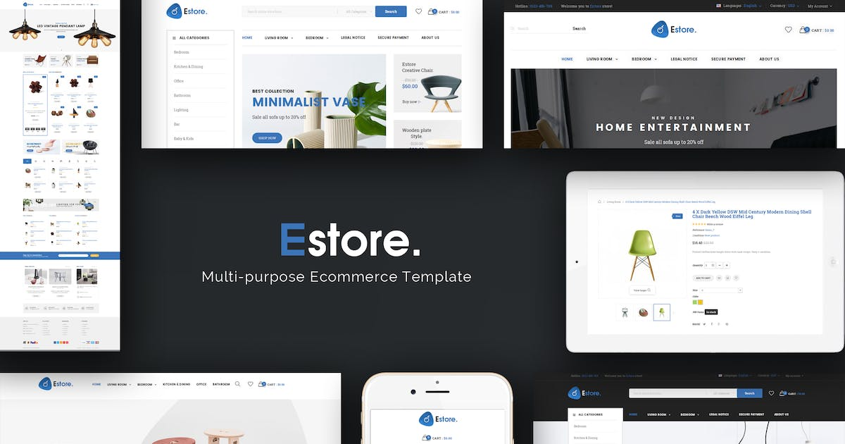 Download Estore - Responsive Magento Theme by Plaza-Themes