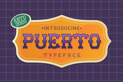 Puerto Playful Tattoo Font