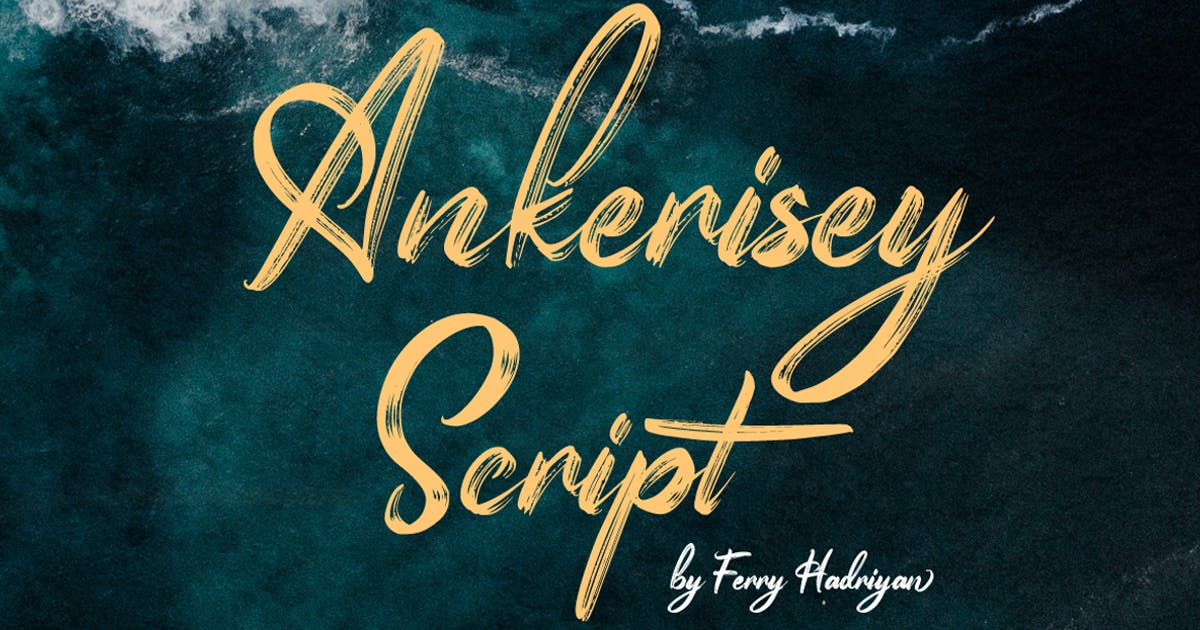 Download Ankerisey - Handwritten Font by Voltury