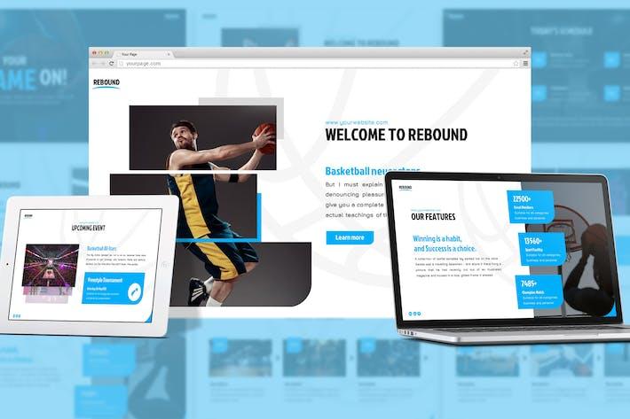 Thumbnail for Rebound - Sport Google Slides Template