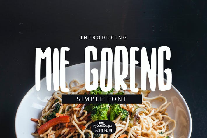 Thumbnail for Mie Goreng Simple Font