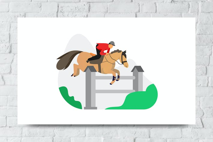 Thumbnail for Equestrian Vector Illustration