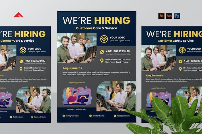 Kundenservice Job Einstellen Flyer Werbung