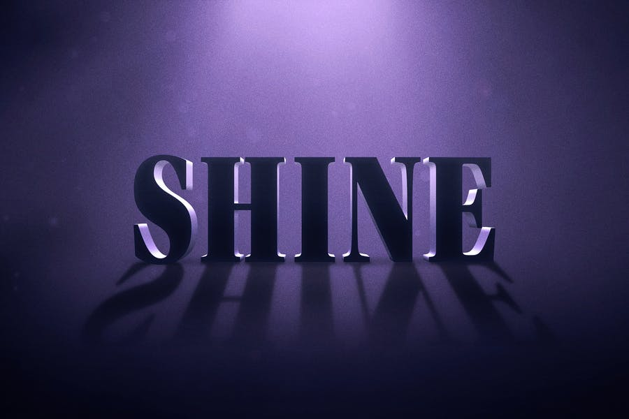 Cinematic Shine Text Effect