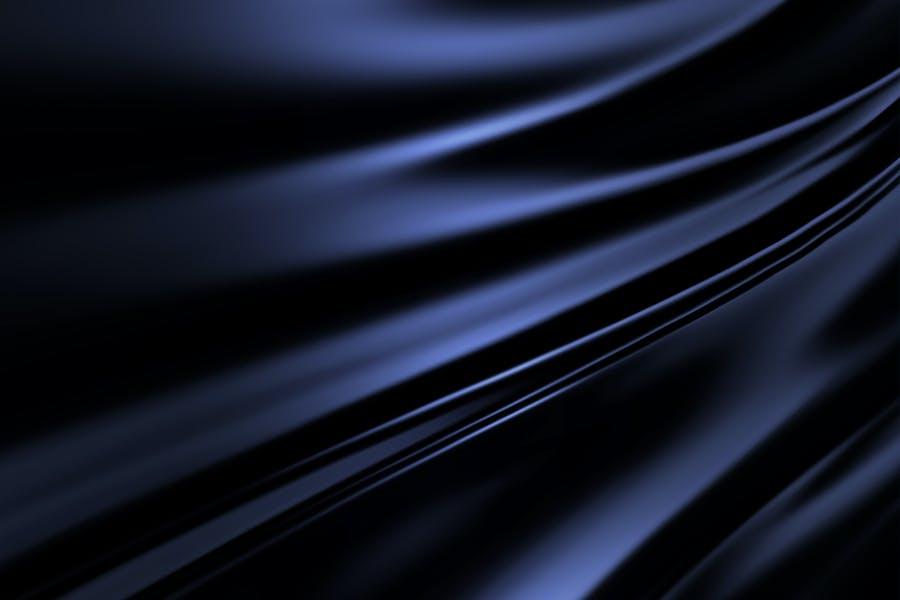 blue-black silk