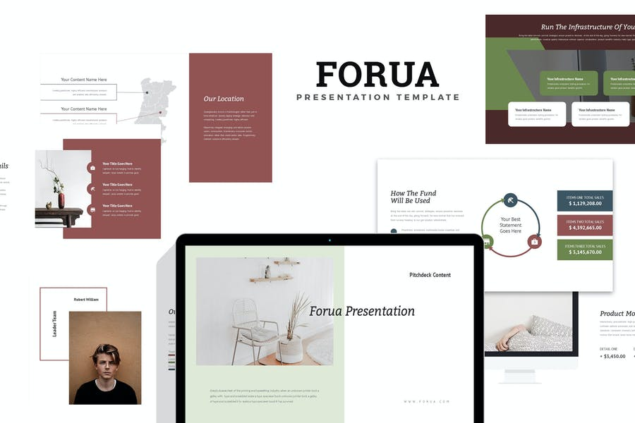 Forua : Home Decor Startup Pitch Google Slides