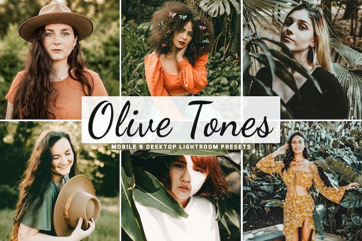 Thumbnail for Olive Tones Mobile & Desktop Lightroom Presets