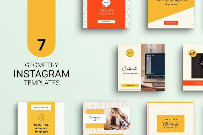 Thumbnail for Geometry Instagram Templates
