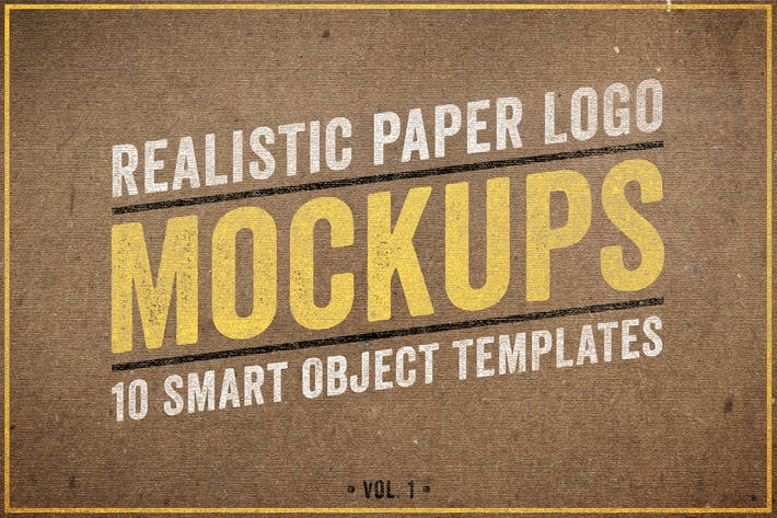Cover Image For Realistic Paper Logo Mockups Volume 1