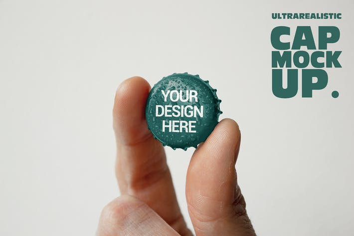 Cover Image For Beer Cap Hand Mockup