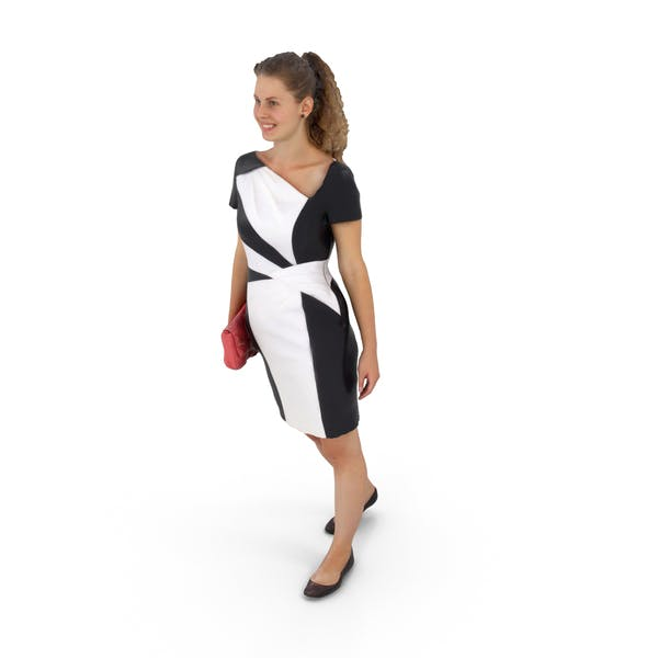 Woman Walking in Dress