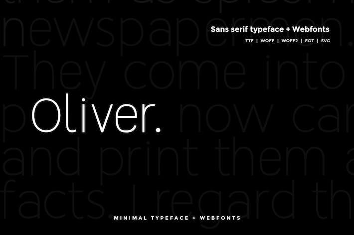 Thumbnail for Oliver  - Modern Typeface + WebFont