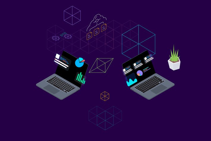Thumbnail for Blockchain Platform Isometric Illustration 4