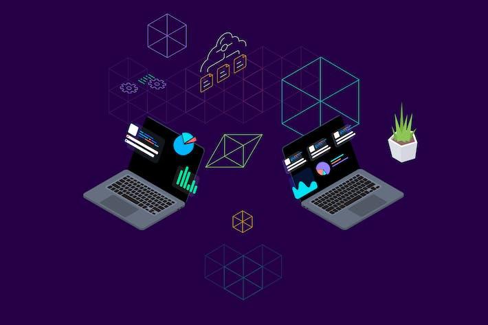 Thumbnail for Blockchain-Plattform Isometrische Abbildung 4