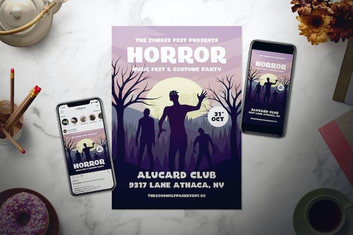 Thumbnail for Halloween Flyer Set
