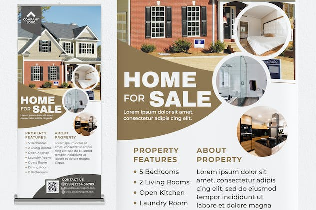 Home For Sale Roll Up Banner