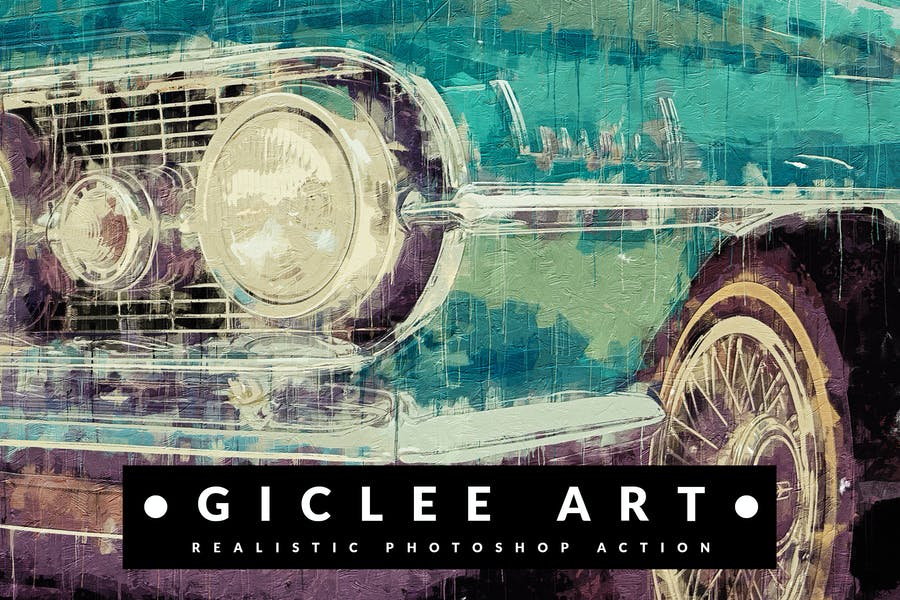 Giclee Art - Realistic Painting Photoshop Action