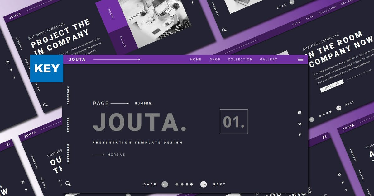 Download JOUTA Keynote Template by axelartstudio