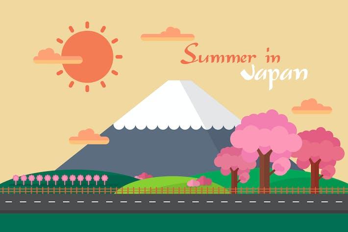 Thumbnail for Summer In Japan - Illustration Background