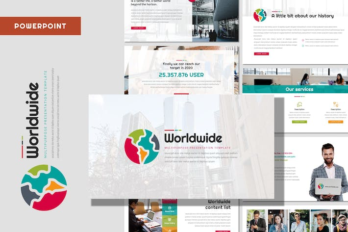 Thumbnail for World Wide - Multipurpose Powerpoint Template