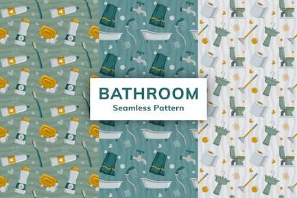 Bathroom Seamless Pattern
