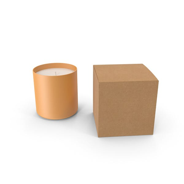 Orange Candle with Craft Box