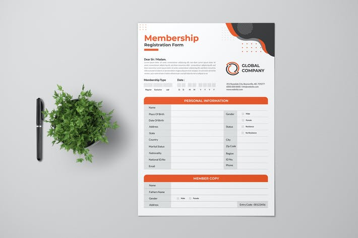 Thumbnail for Clean Registration Form With Red Accent