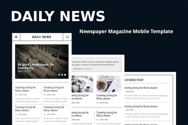 Daily News - Newspaper Magazine Mobile Template