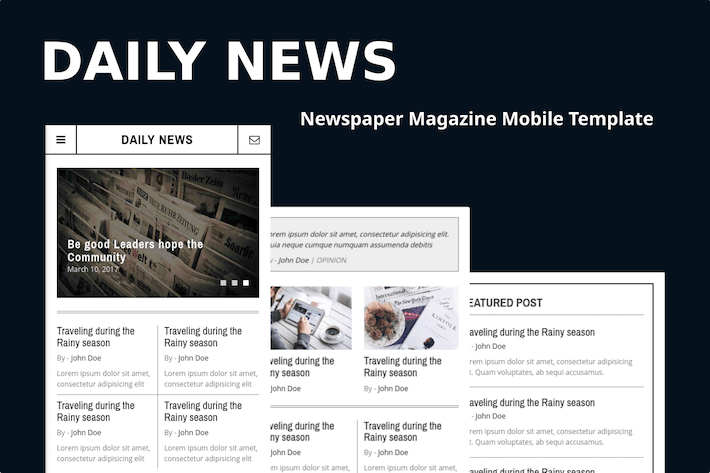 Thumbnail for Daily News - Newspaper Magazine Mobile Template