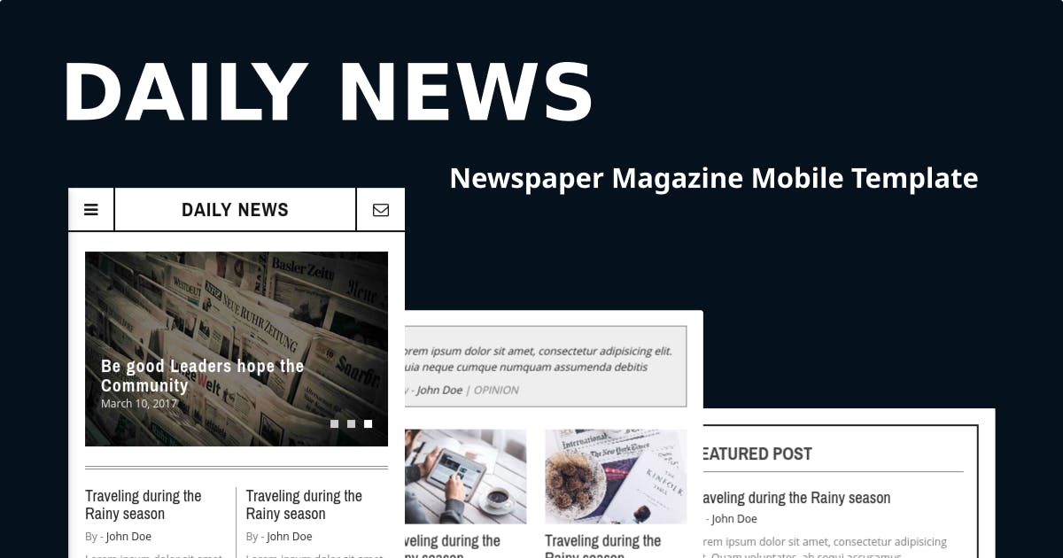 Download Daily News - Newspaper Magazine Mobile Template by Ngetemplates