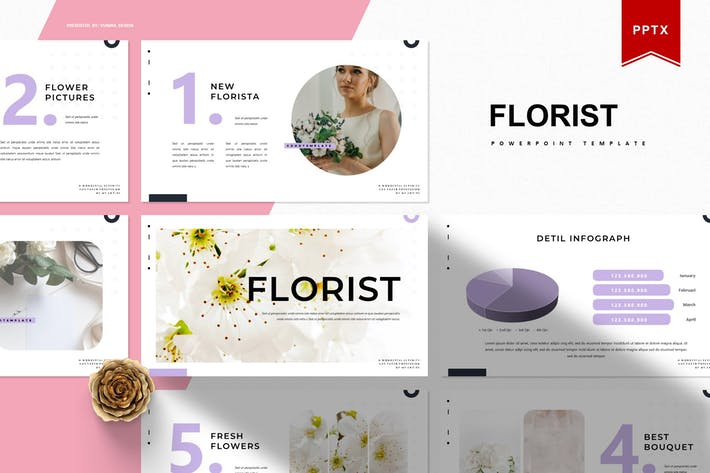 Thumbnail for Florist | Powerpoint Template