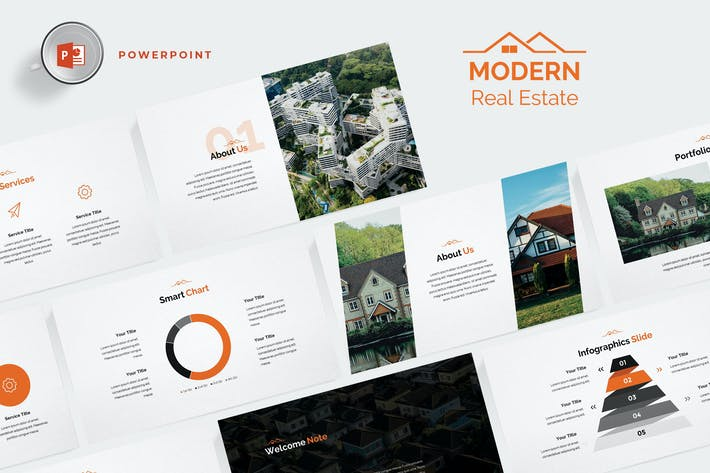 Thumbnail for Modern Real Estate Powerpoint Template