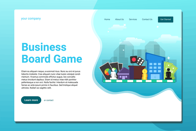 Board Games - Landing Page