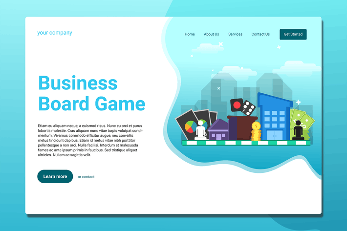Thumbnail for Board Games - Landing Page