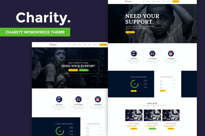 Cover Image For Charity - Nonprofit WordPress Theme