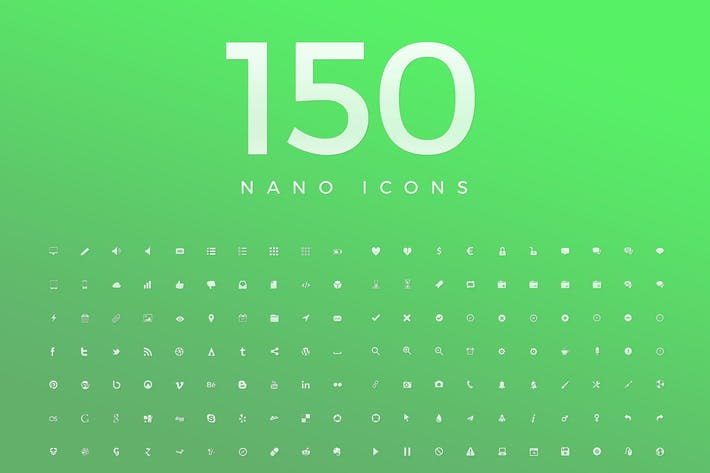 Thumbnail for 150 Nano Vector Icons 2