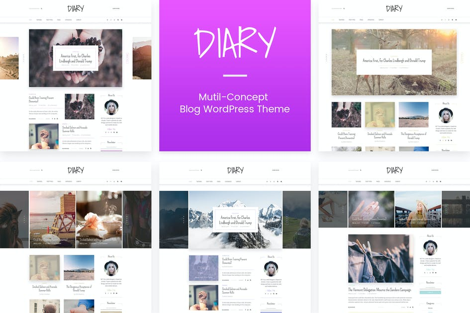 Download Diary | Personal Blog PSD Template by Leonard_Design