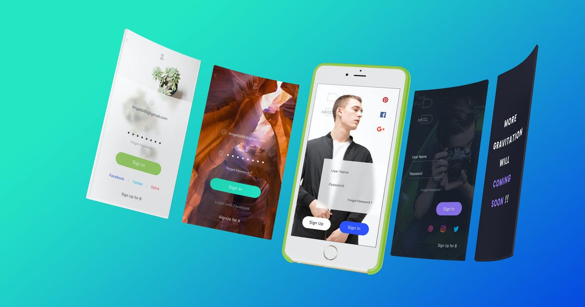 Download B SignIn - Sketch Ui by angelbi88