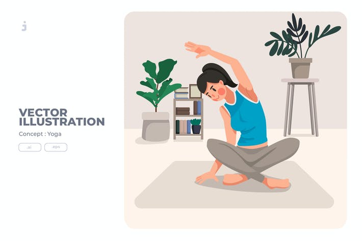 Thumbnail for Yoga - Vector Illustration