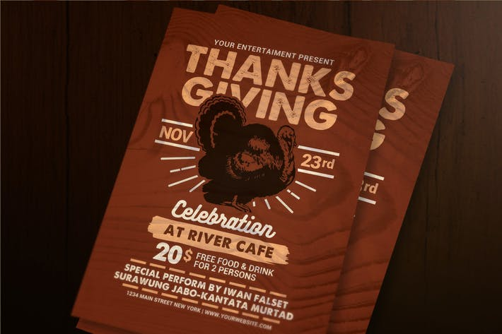 Thumbnail for Thanksgiving Celebration Flyer