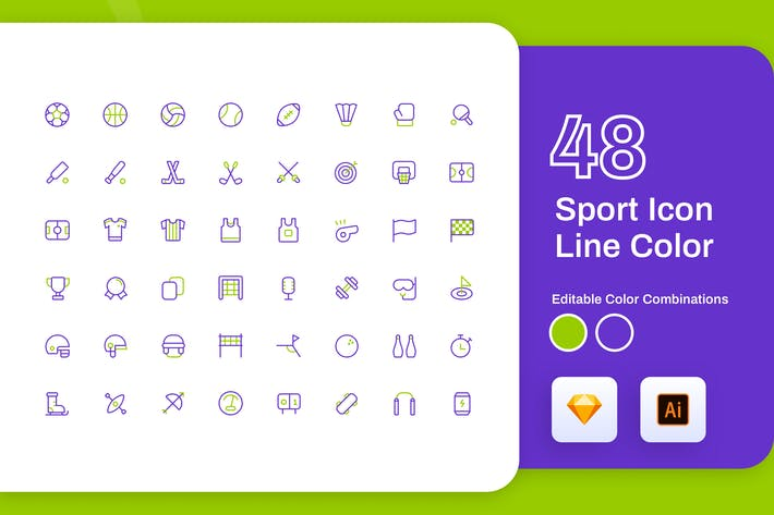 Thumbnail for Sport Icon Line Color