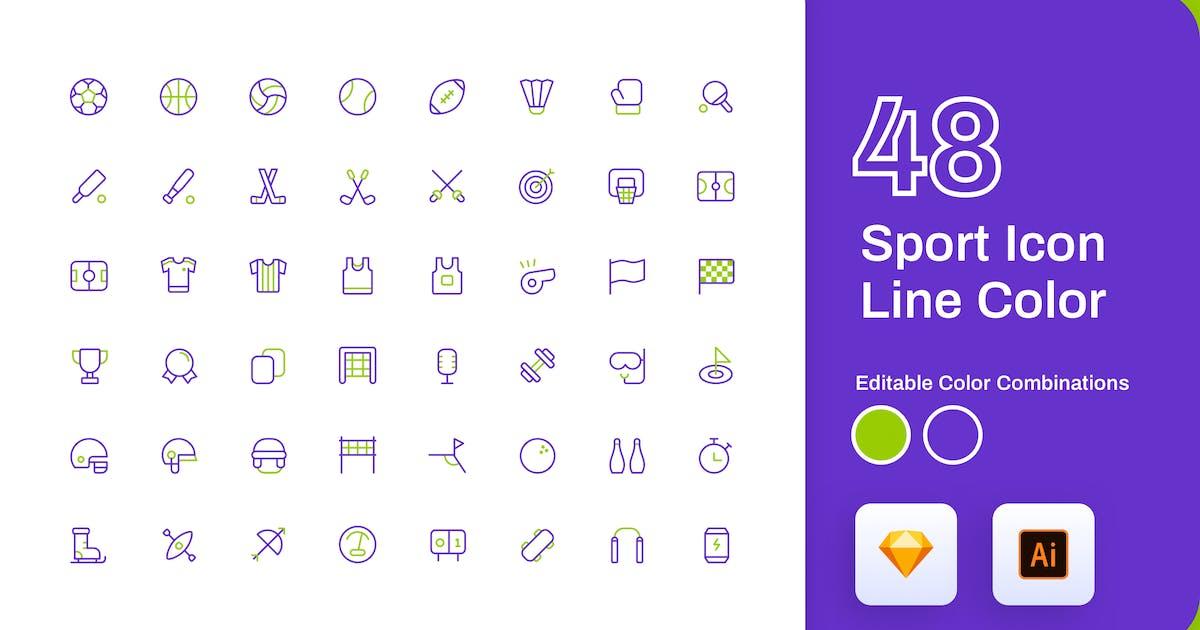 Download Sport Icon Line Color by sudutlancip